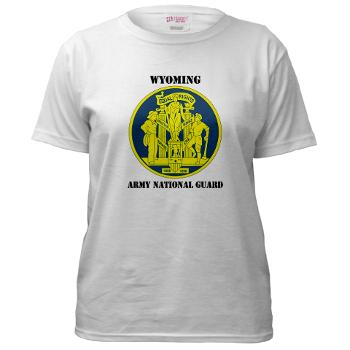 WYARNG - A01 - 04 - DUI - WYOMING Army National Guard with Text - Women's T-Shirt