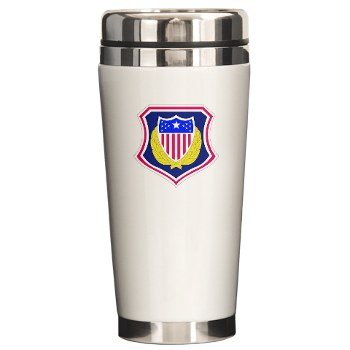 ags - M01 - 03 - DUI - Adjutant General School Ceramic Travel Mug