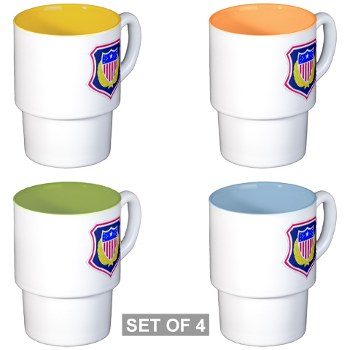 ags - M01 - 03 - DUI - Adjutant General School Stackable Mug Set (4 mugs)