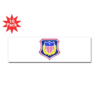 ags - M01 - 01 - DUI - Adjutant General School Sticker (Bumper 10 pk)