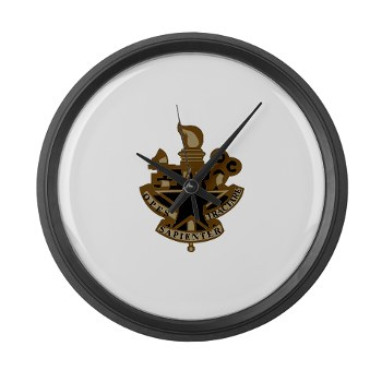almc - M01 - 03 - DUI - Army Logistics Management College - Large Wall Clock