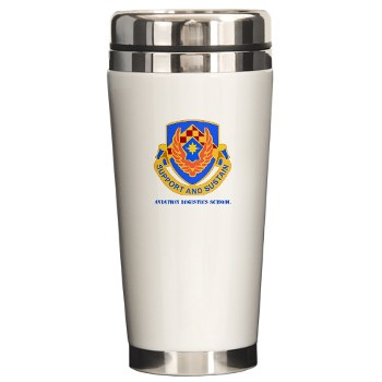 als - M01 - 03 - DUI - Aviation Logistics School with Text - Ceramic Travel Mug