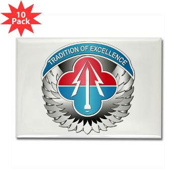 AMLCMC - M01 - 01 - Aviation and Missile Life Cycle Management Command - Rectangle Magnet (10 pack)