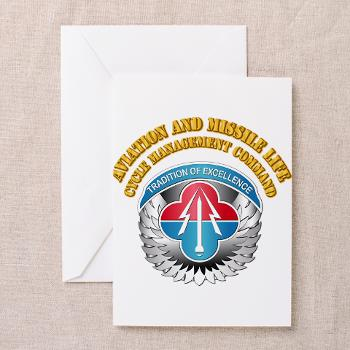 AMLCMC - M01 - 02 - Aviation and Missile Life Cycle Management Command with Text - Greeting Cards (Pk of 10)