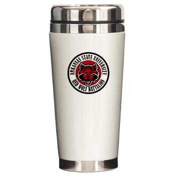 arksun - M01 - 03 - SSI - ROTC - Arkansas State University - Ceramic Travel Mug