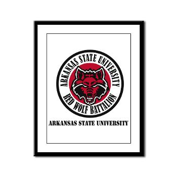 arksun - M01 - 02 - SSI - ROTC - Arkansas State University with Text - Framed Panel Print