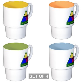 armorschool - M01 - 03 - DUI - Armor Center/School Stackable Mug Set (4 mugs)