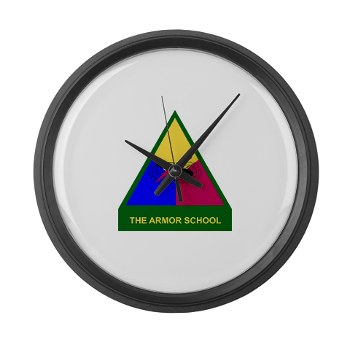 armorschool - M01 - 03 - DUI - Armor Center/School Large Wall Clock