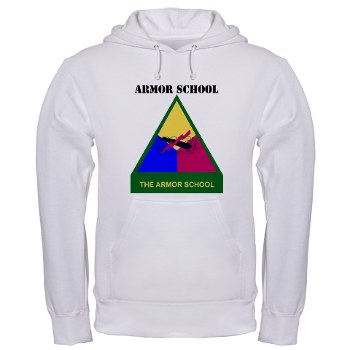armorschool - A01 - 03 - DUI - Armor Center/School with Text Hooded Sweatshirt