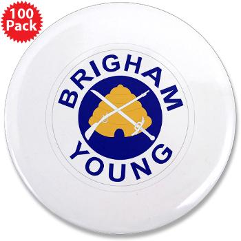 "byu - M01 - 01 - SSI - ROTC - Brigham Young University - 3.5"" Button (100 pack)"