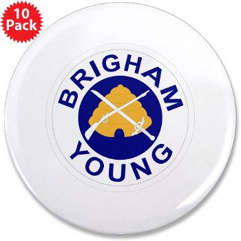 "byu - M01 - 01 - SSI - ROTC - Brigham Young University - 3.5"" Button (10 pack)"
