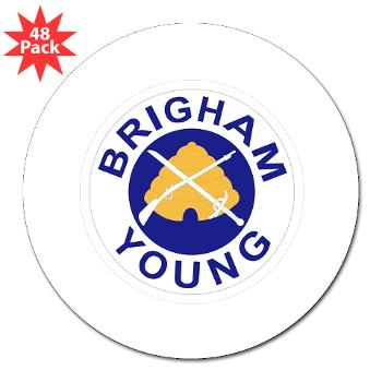 "byu - M01 - 01 - SSI - ROTC - Brigham Young University - 3"" Lapel Sticker (48 pk)"
