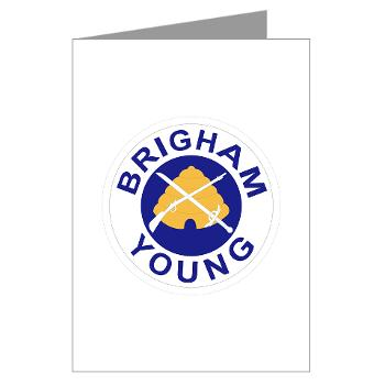 byu - M01 - 02 - SSI - ROTC - Brigham Young University - Greeting Cards (Pk of 20)