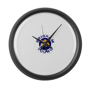 byu - M01 - 03 - SSI - ROTC - Brigham Young University - Large Wall Clock