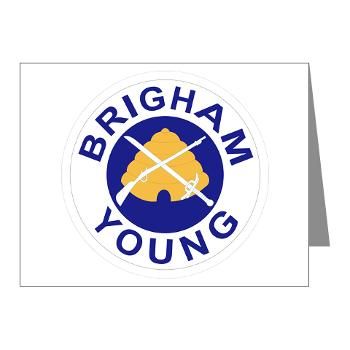 byu - M01 - 02 - SSI - ROTC - Brigham Young University - Note Cards (Pk of 20)
