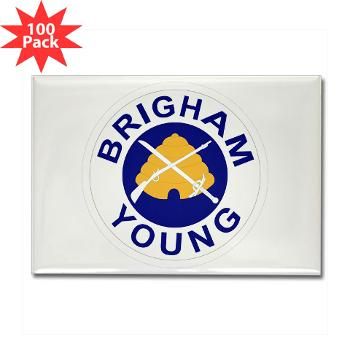 byu - M01 - 01 - SSI - ROTC - Brigham Young University - Rectangle Magnet (100 pack)