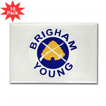 byu - M01 - 01 - SSI - ROTC - Brigham Young University - Rectangle Magnet (10 pack)