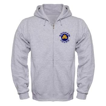 byu - A01 - 03 - SSI - ROTC - Brigham Young University - Zip Hoodie