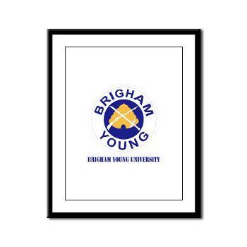 byu - M01 - 02 - SSI - ROTC - Brigham Young University with Text - Framed Panel Print
