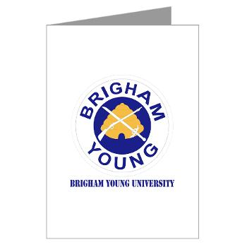 byu - M01 - 02 - SSI - ROTC - Brigham Young University with Text - Greeting Cards (Pk of 20)