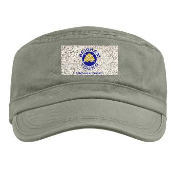 byu - A01 - 01 - SSI - ROTC - Brigham Young University with Text - Military Cap