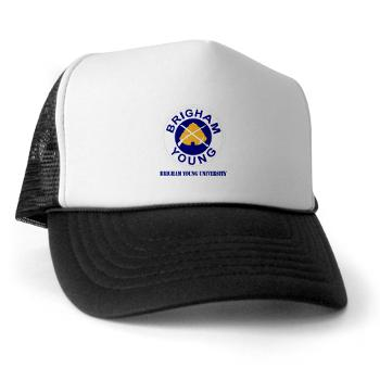 byu - A01 - 02 - SSI - ROTC - Brigham Young University with Text - Trucker Hat