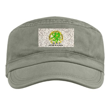 cbrns - A01 - 01 - DUI - Chemical School with Text - Military Cap