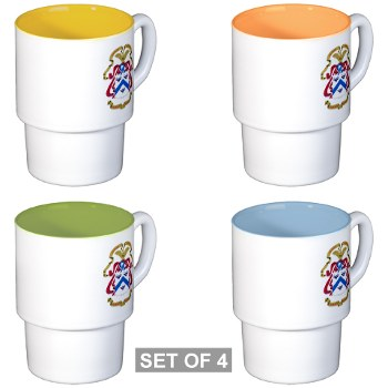 cgsc - M01 - 03 - DUI - Command and General Staff College Stackable Mug Set (4 mugs)