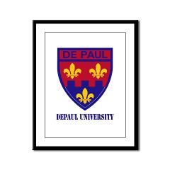depaul - M01 - 02 - SSI - ROTC - DePaul University with Text - Framed Panel Print