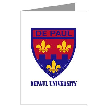depaul - M01 - 02 - SSI - ROTC - DePaul University with Text - Greeting Cards (Pk of 10)