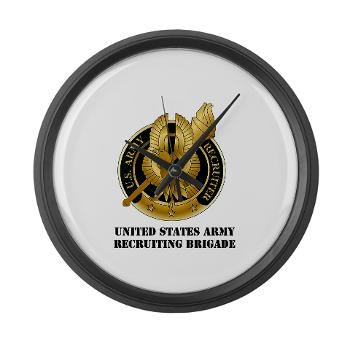 MEDRB - M01 - 03 - DUI - Medical Recruiting Battalion with Text - Large Wall Clock