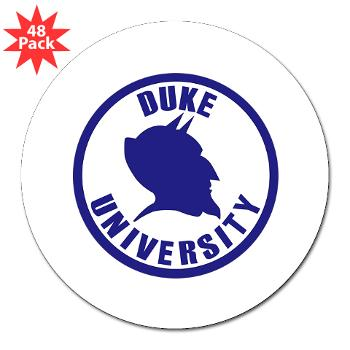 "duke - M01 - 01 - SSI - ROTC - Duke University - 3"" Lapel Sticker (48 pk)"