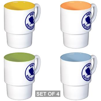 duke - M01 - 03 - SSI - ROTC - Duke University - Stackable Mug Set (4 mugs)