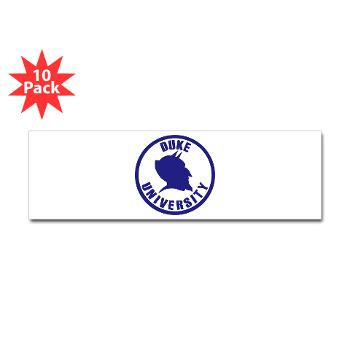 duke - M01 - 01 - SSI - ROTC - Duke University - Sticker (Bumper 10 pk)