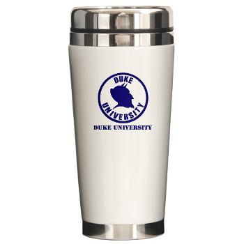 duke - M01 - 03 - SSI - ROTC - Duke University with Text - Ceramic Travel Mug