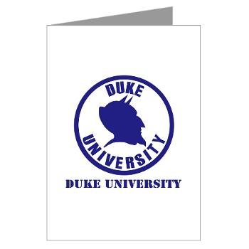 duke - M01 - 02 - SSI - ROTC - Duke University with Text - Greeting Cards (Pk of 10)