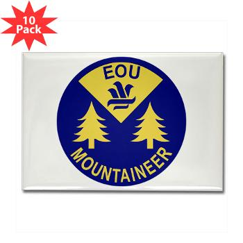 eou - M01 - 01 - SSI - ROTC - Eastern Oregon University - Rectangle Magnet (10 pack)