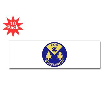 eou - M01 - 01 - SSI - ROTC - Eastern Oregon University - Sticker (Bumper 10 pk)