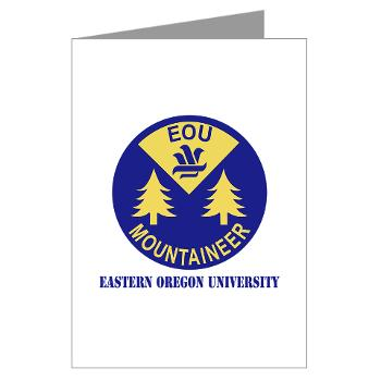 eou - M01 - 02 - SSI - ROTC - Eastern Oregon University with Text - Greeting Cards (Pk of 10)
