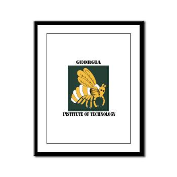 gatech - M01 - 02 - SSI - ROTC - Georgia Institute of Technology with Text - Framed Panel Print