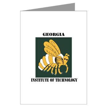 gatech - M01 - 02 - SSI - ROTC - Georgia Institute of Technology with Text - Greeting Cards (Pk of 10)