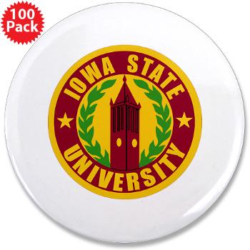 "iastate - M01 - 01 - SSI - ROTC - Iowa State University - 3.5"" Button (100 pack)"
