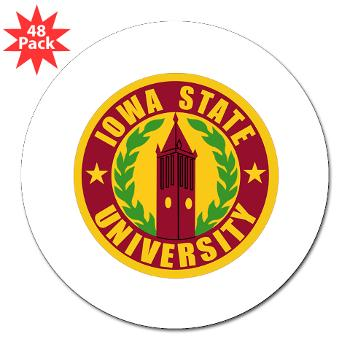 "iastate - M01 - 01 - SSI - ROTC - Iowa State University - 3"" Lapel Sticker (48 pk)"