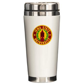 iastate - M01 - 03 - SSI - ROTC - Iowa State University - Ceramic Travel Mug