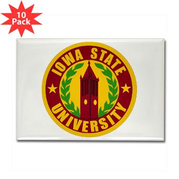 iastate - M01 - 01 - SSI - ROTC - Iowa State University - Rectangle Magnet (10 pack)