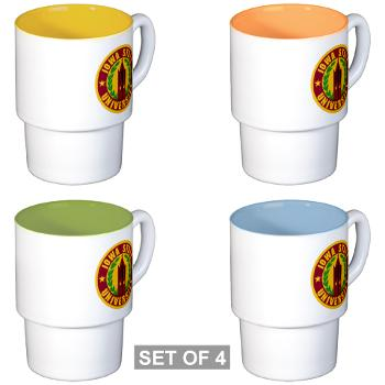 iastate - M01 - 03 - SSI - ROTC - Iowa State University - Stackable Mug Set (4 mugs)