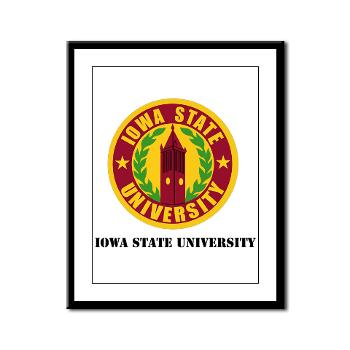 iastate - M01 - 02 - SSI - ROTC - Iowa State University with Text - Framed Panel Print