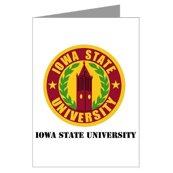 iastate - M01 - 02 - SSI - ROTC - Iowa State University with Text - Greeting Cards (Pk of 10)