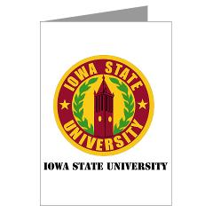 iastate - M01 - 02 - SSI - ROTC - Iowa State University with Text - Greeting Cards (Pk of 20)