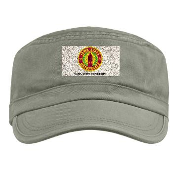 iastate - A01 - 01 - SSI - ROTC - Iowa State University with Text - Military Cap